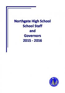 Northgate High School School Staff and Governors