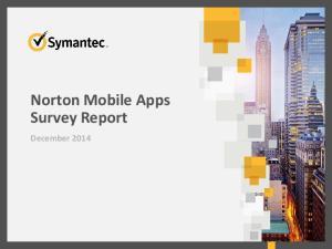Norton Mobile Apps Survey Report. December 2014