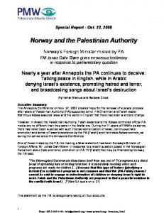 Norway and the Palestinian Authority