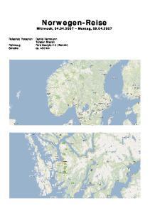 Norwegen-Reise Mittwoch, Montag,