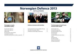 Norwegian Defence 2013 FACTS and FIGURES