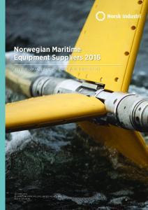 Norwegian Maritime Equipment Suppliers 2016