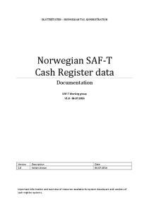 Norwegian SAF-T Cash Register data