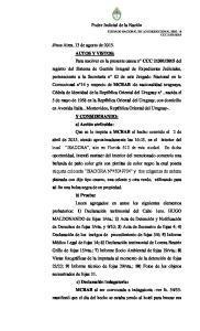 nos Aires, 13 de agosto de AUTOS Y VISTOS: