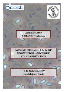 NOSEMA DISEASE: LACK OF KNOWLEDGE AND WORK STANDARDIZATION