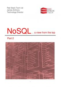 NoSQL a view from the top