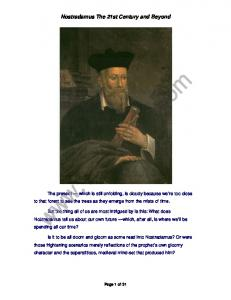 Nostradamus The 21st Century and Beyond