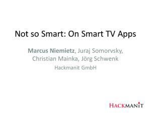 Not so Smart: On Smart TV Apps