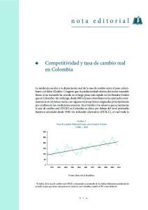 nota editorial Competitividad y tasa de cambio real en Colombia