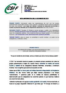 NOTA INFORMATIVA DEL 24 DE ENERO DE 2013