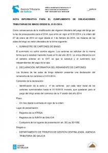 NOTA INFORMATIVA PARA EL CUMPLIMIENTO DE OBLIGACIONES