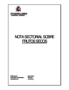 NOTA SECTORIAL SOBRE FRUTOS SECOS