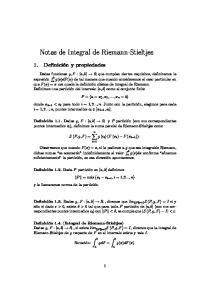 Notas de Integral de Riemann-Stieltjes