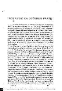 NOTAS DE LA SEGUNDA PARTE