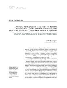 Notas de Pesquisa. Josefina G. Cargnel 1