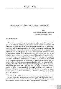 NOTAS HUELGA Y CONTRATO DE TRABAJO