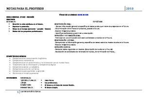 NOTAS PARA EL PROFESOR 2010