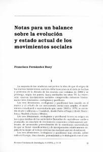 Notas para un balance sobre la evolucion y estado actual de los movimientos sociales