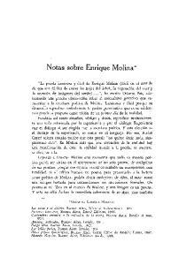 Notas sobre Enrique Molina*