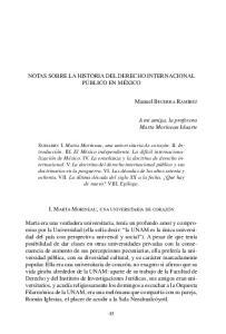 NOTAS SOBRE LA HISTORIA DEL DERECHO INTERNACIONAL PÚBLICO EN MÉXICO
