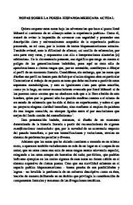 NOTAS SOBRE LA POESIA HISPANOAMERICANA ACTUAL