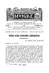 Notas sobre minerales radioactivos