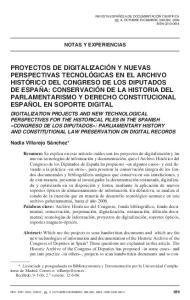 NOTAS Y EXPERIENCIAS. Nadia Villarejo Sánchez*