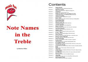 Note Names in the Treble