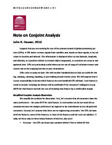 Note on Conjoint Analysis