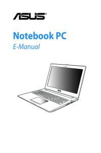 Notebook PC. E-Manual