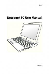 Notebook PC User Manual