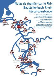 Notes de chantier sur le Rhin Baustellenbuch Rhein Rijnparcoursbundel