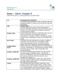 Notes Odom, Chapter 8 Flashcards Set:
