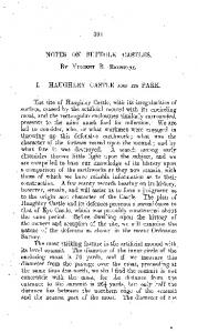 NOTES ON SUFFOLK CASTLES. By. VINCENT B. REDSTONE. I. HAUGHLEY CASTLE AND ITS PARK
