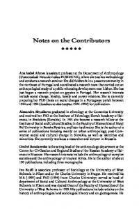 Notes on the Contributors