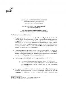 NOTICE AND STATEMENT OF THE RECEIVER (Pursuant to subsection 245(1) and 246(1) of the Bankruptcy and Insolvency Act)