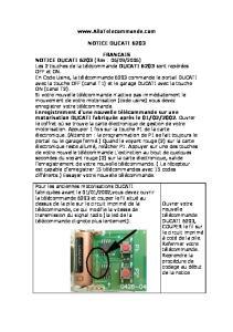 NOTICE DUCATI 6203