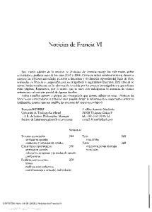 Noticias de Francia VI