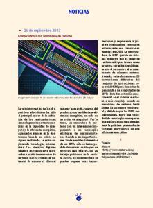 NOTICIAS de septiembre Computadoras con nanotubos de carbono