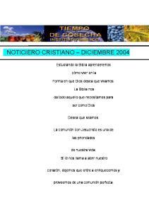 NOTICIERO CRISTIANO DICIEMBRE 2004