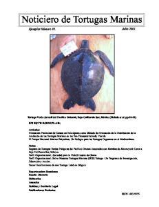 Noticiero de Tortugas Marinas
