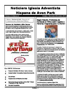 Noticiero Iglesia Adventista Hispana de Avon Park