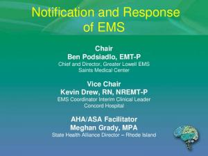 Notification and Response of EMS
