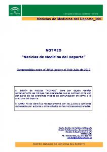 NOTMED. Noticias de Medicina del Deporte