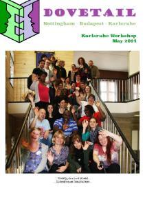 Nottingham - Budapest - Karlsruhe Karlsruhe Workshop May 2014