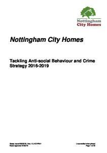Nottingham City Homes Tackling Anti-social Behaviour and Crime Strategy