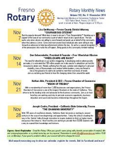 Nov 7. Nov. Nov 21. Nov. Rotary Monthly News
