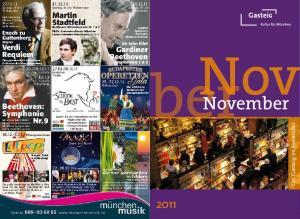 Nov. ber. November. Der Gasteig im November