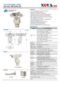 NOVACAM Features HD IR POSITIONING CAMERA XV-521 IRPT(HD-IP) Specification. Drawing. Option. Bracket