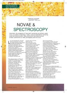 NOVAE & SPECTROSCOPY